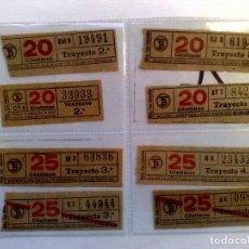 Coleccionismo Billetes de transporte: LOTE DE 8 DIFERENTES BILLETES DE TRANSPORTE PUBLICO.. Lote 219043696