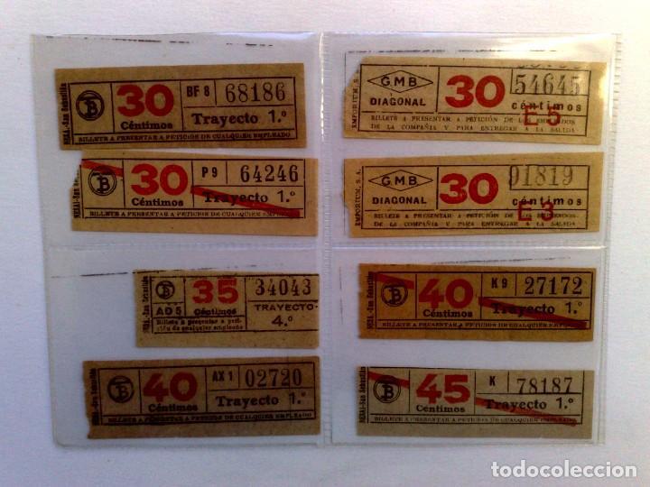 LOTE DE 8 DIFERENTES BILLETES DE TRANSPORTE PUBLICO. (Coleccionismo - Billetes de Transporte)