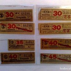 Coleccionismo Billetes de transporte: LOTE DE 8 DIFERENTES BILLETES DE TRANSPORTE PUBLICO.. Lote 219043717