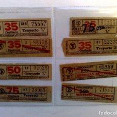 Coleccionismo Billetes de transporte: LOTE DE 8 DIFERENTES BILLETES DE TRANSPORTE PUBLICO.. Lote 219043758