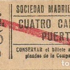 Coleccionismo Billetes de transporte: BILLETE TRANVIA SOCIEDAD MADRILEÑA TRANVIAS 10 CTS SERIE TPO 7 CAPICUA Nº 599. Lote 219653510