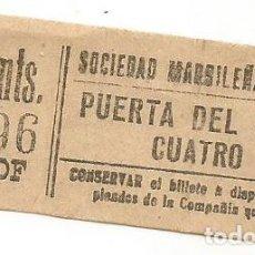 Coleccionismo Billetes de transporte: BILLETE TRANVIA SOCIEDAD MADRILEÑA TRANVIAS 15 CTS SERIE ZNF 9 CAPICUA Nº 936. Lote 219654137