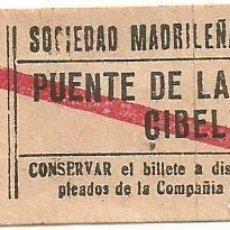 Coleccionismo Billetes de transporte: BILLETE TRANVIA SOCIEDAD MADRILEÑA TRANVIAS 15 CTS SERIE TTK 7 CAPICUA Nº 798. Lote 219654218