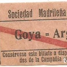 Coleccionismo Billetes de transporte: BILLETE TRANVIA SOCIEDAD MADRILEÑA TRANVIAS 15 CTS SERIE BGQ 9 CAPICUA Nº 294. Lote 219654332