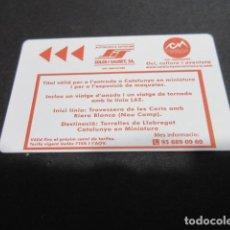 Coleccionismo Billetes de transporte: TARJETA SOLER Y SAURET + CATALUÑA EN MINIATURA. Lote 219890826