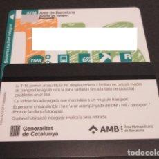 Coleccionismo Billetes de transporte: TARJETA T-16 LOGO AMB. Lote 219891622