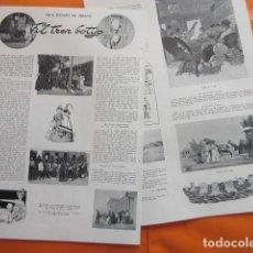Collezionismo Biglietti di trasporto: ARTICULO 1953 - EL TREN BOTIJO - 2 PAGINAS - RENFE FERROCARRIL TRANVIA METRO AUTOBUS. Lote 220227315