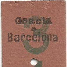 Coleccionismo Billetes de transporte: BILLETE EDMONDSON FERROCARRILES SARRIA COLOR VERDE 3 - 1 CAPICUA Nº 872. Lote 220756538
