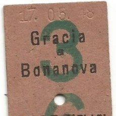 Coleccionismo Billetes de transporte: BILLETE EDMONDSON FERROCARRILES SARRIA COLOR VERDE 3 - 6 CAPICUA Nº 141. Lote 220756946