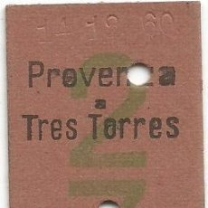 Coleccionismo Billetes de transporte: BILLETE TREN EDMONSON F.C.S.B. VERDE 2 7 PESETAS 1'00 Nº 06436 L. Lote 220955755