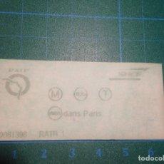 Coleccionismo Billetes de transporte: BILLETE TICKET METRO PARIS. Lote 221517603