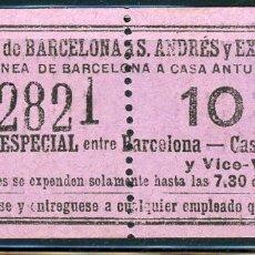Coleccionismo Billetes de transporte: (F10/2) - GSC 128 - BILLETE DE SAYEX // BILLETE ESPECIAL LINEA CASA ANTUNEZ. Lote 221524692