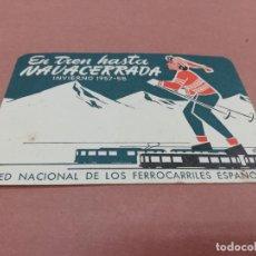 Coleccionismo Billetes de transporte: HORARIO DE TREN. Lote 221536902