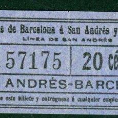 Coleccionismo Billetes de transporte: (F10/3) - GSC 571 - BILLETE DE SAYEX // LINEA SAN ANDRES //. Lote 221547340