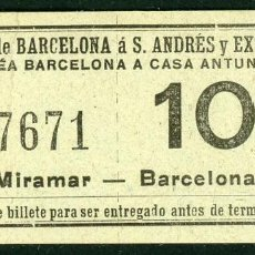 Coleccionismo Billetes de transporte: (F10/2) - GSC 176 - BILLETE DE SAYEX // LINEA CASA ANTUNEZ //. Lote 221549442