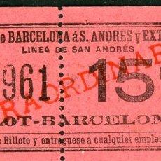 Coleccionismo Billetes de transporte: (F10/2) - GSC 169 - BILLETE DE SAYEX // LINEA SAN ANDRES //. Lote 221549696