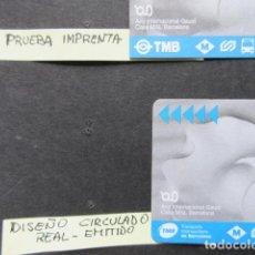 Collezionismo Biglietti di trasporto: RAREZA - TARJETA ABONO 5 DIAS CON LOGOS DIFERENTES - LEER INTERIOR PARA DETALLE. Lote 221559640