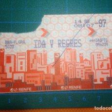 Coleccionismo Billetes de transporte: BILLETE CERCANIAS RENFE BARCELONA IDA Y REGRESO 14-SEP-1997 TICKET. Lote 221589908