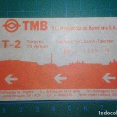 Coleccionismo Billetes de transporte: BILLETE BONO METRO BARCELONA TARGETA 10 VIATGES Nº049509. Lote 221590216
