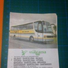 Coleccionismo Billetes de transporte: BILLETE AUTOBUS VIACARSA BUS BILBAO-BARCELONA IDA Y VUELTA - SEPTIEMBRE 1997 - TICKET. Lote 221599525