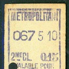 Coleccionismo Billetes de transporte: BILLETE DEL METRO DE PARIS // CHATELET // (S13). Lote 222393892