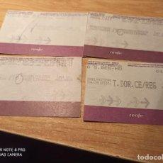 Coleccionismo Billetes de transporte: 4 BILLETES TREN LÍNEA PUIGCERDÁ. Lote 223137391
