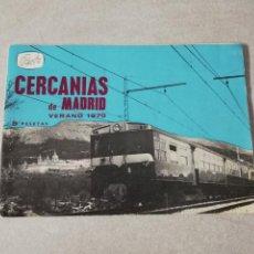 Coleccionismo Billetes de transporte: CERCANIAS DE MADRID VERANO DE 1970, RENFE 32 PAGINAS, MIDE 17 X 12 CMS.. Lote 224689170