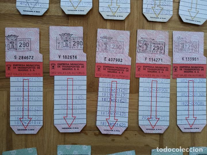 Coleccionismo Billetes de transporte: LOTE 20 BILLETES AUTOBUS. BUS. EMPRESA MUNICIPAL DE TRANSPORTES MADRID. TODOS DIFERENTES. VER FOTOS - Foto 3 - 226451400