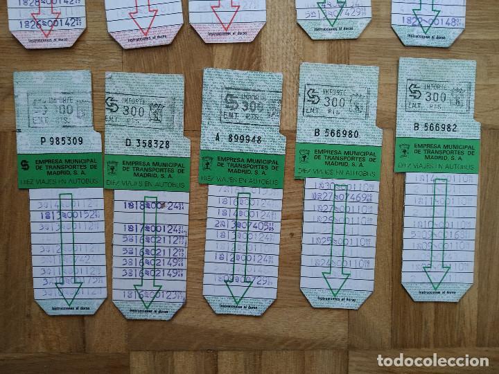 Coleccionismo Billetes de transporte: LOTE 20 BILLETES AUTOBUS. BUS. EMPRESA MUNICIPAL DE TRANSPORTES MADRID. TODOS DIFERENTES. VER FOTOS - Foto 5 - 226451400