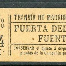 Colecionismos Bilhetes de Transporte: GSC 432 MADRID - BILLETE DE TRANVIA DE MADRID. Lote 227587175
