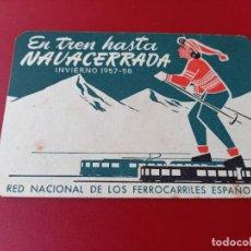 Coleccionismo Billetes de transporte: HORARIO DE FERROCARRIL. Lote 231685930
