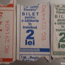 Collezionismo Biglietti di trasporto: BILLETE 3 DE BUS DE CHISINAU. MOLDAVIA. Lote 232517150