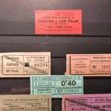 Coleccionismo Billetes de transporte: INTERESATE LOTE DE 6 BILLETES DE TRANSPORTES EN CATALUÑA. Lote 232959700