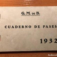 Coleccionismo Billetes de transporte: BARCELONA GRAN METRO DE BARCELONA CUADERNILLO DE PASES Y NORMAS ( RARO ). Lote 233006380