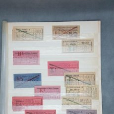 Coleccionismo Billetes de transporte: 30 CAPICUAS DE TRANVIAS DE BARCELONA DE 10 Y 15 CENTIMOS. Lote 233189300