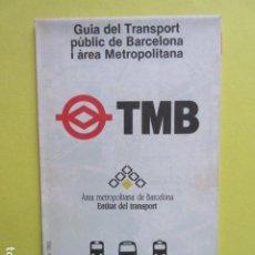 Collectionnisme Billets de transport: PLANO AUTOBUSES METRO BARCELONA TRANSPORTE JULIO DE 1992. Lote 233648935
