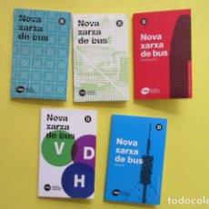 Colecionismos Bilhetes de Transporte: LOTE 5 PLANO AUTOBUS BARCELONA NUEVA RED. Lote 233654885