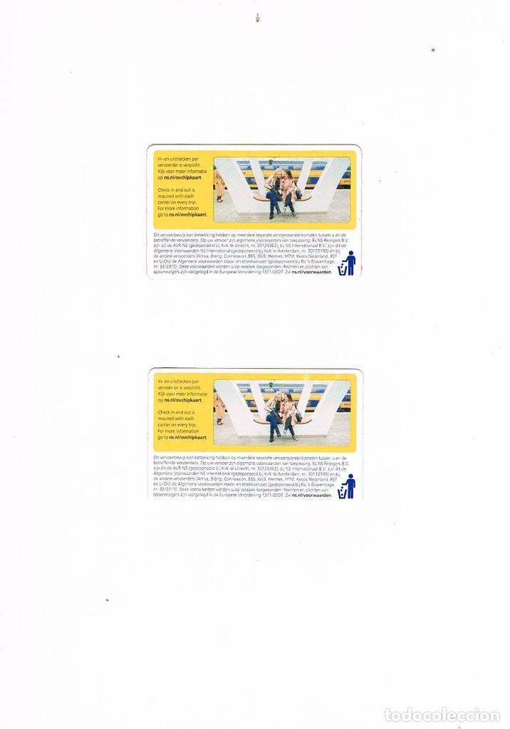 Coleccionismo Billetes de transporte: LOTE DOS BILLETES TRANSPORTE AMSTERDAM 2018 - Foto 2 - 234732105