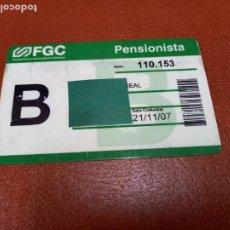 Collezionismo Biglietti di trasporto: TARJETA FGC. Lote 235635510