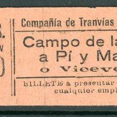 Collezionismo Biglietti di trasporto: GSC 000 - BILLETE DE TRANVIAS DE LA CORUÑA. Lote 236862715