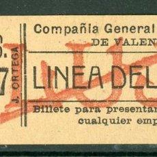 Collezionismo Biglietti di trasporto: GSC 765 VALENCIA - BILLETE DE TRANVIAS DE VALENCIA // LUJO. Lote 236863115