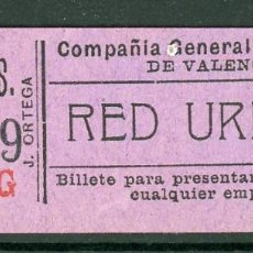 Collezionismo Biglietti di trasporto: GSC 950 VALENCIA - BILLETE DE TRANVIAS DE VALENCIA. Lote 236863245