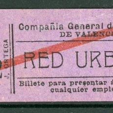 Collezionismo Biglietti di trasporto: GSC 276 VALENCIA - BILLETE DE TRANVIAS DE VALENCIA. Lote 236863290