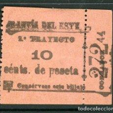 Collezionismo Biglietti di trasporto: BILLETE DE TRANVIAS DEL ESTE DE MADRID. Lote 236863345