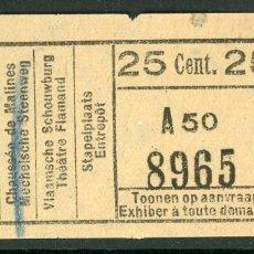 Collezionismo Biglietti di trasporto: BILLETE DE TRANVIAS DE AMBERES (BELGICA). Lote 236863795