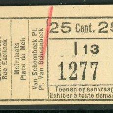 Collezionismo Biglietti di trasporto: BILLETE DE TRANVIAS DE AMBERES (BELGICA). Lote 236863815
