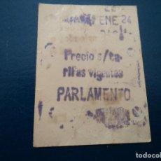 Coleccionismo Billetes de transporte: ANTIGUO BILLETE F.C METROPOLITANO BARCELONA PARLAMENTO. Lote 237523010