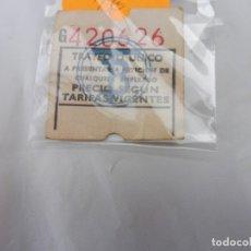 Coleccionismo Billetes de transporte: BILLETE TRAYECTO ÚNICO TB TRANVÍAS DE BARCELONA SERIE G Nº 420626. Lote 237555255