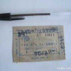 Coleccionismo Billetes de transporte: TRANVÍA TRANSVERSAL FMB DE BARCELONA. TARJETA ABONO DE 5 VIAJES.. Lote 237635700