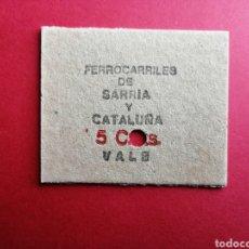 Coleccionismo Billetes de transporte: BILLETE DE TREN - FERROCARRILES DE SARRIA A CATALUÑA - ES DE CARTON Y ESTA PICADO. ENVIO INCLUIDO.. Lote 237641590